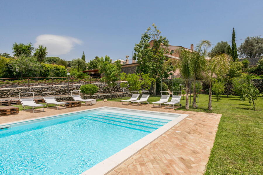 A view of the villa from the pool area