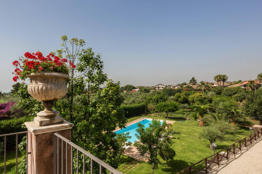 Villa Palms, view from the terrace