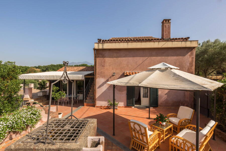 Another pleasant corner of the terrace of  Villa Palmes