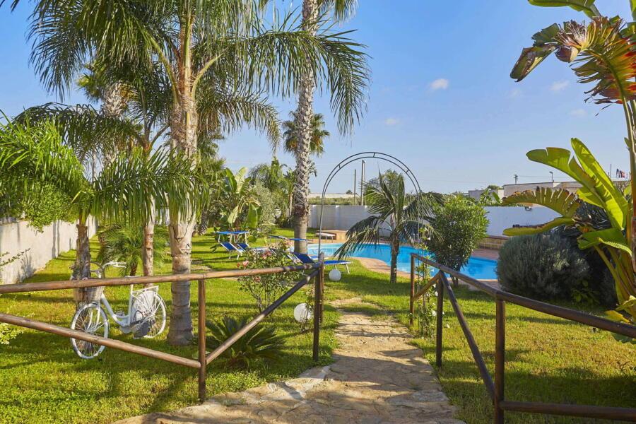 To the pool of Villa Gio, Marsala, Western Sicily