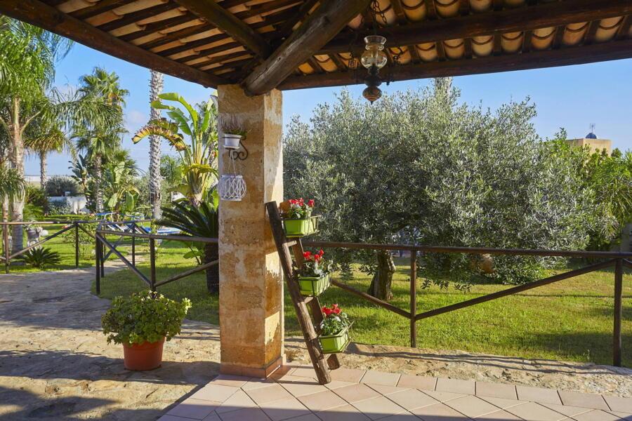 Patio of Villa Gio, Marsala, Western Sicily