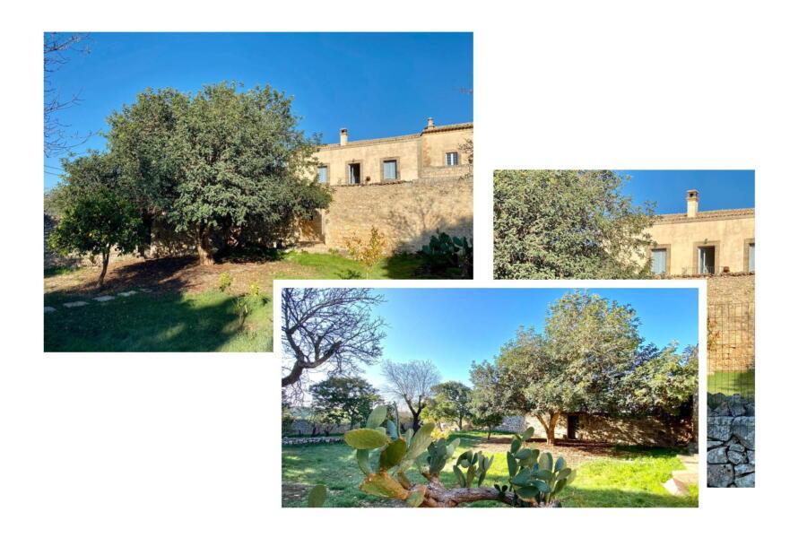 The lovely garden of Stone Farmahouse Ragusa