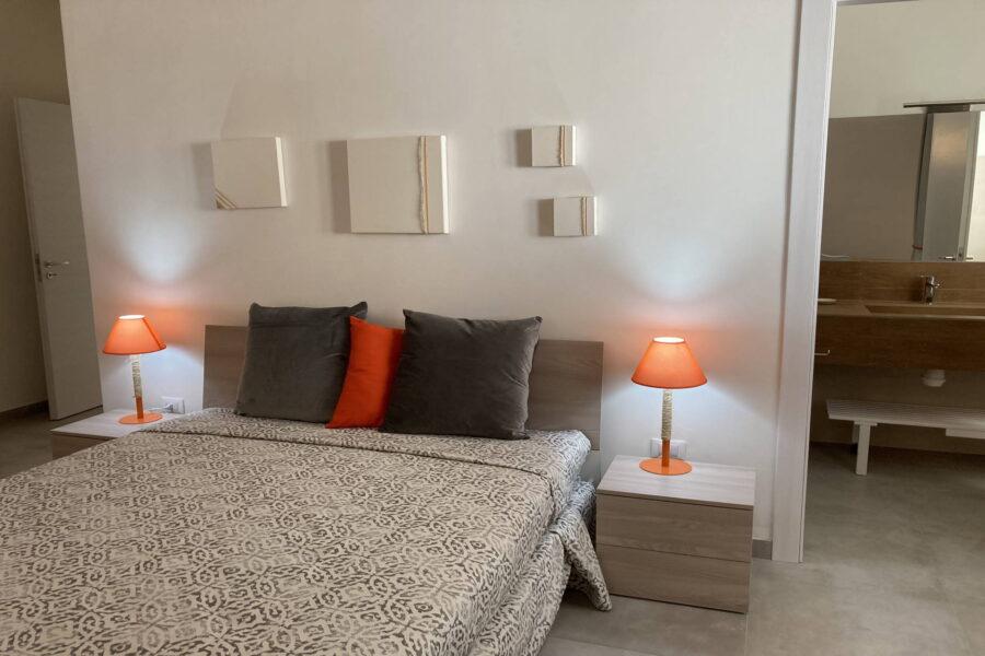"The ground floor ""arancione"" double bedroom en suite"