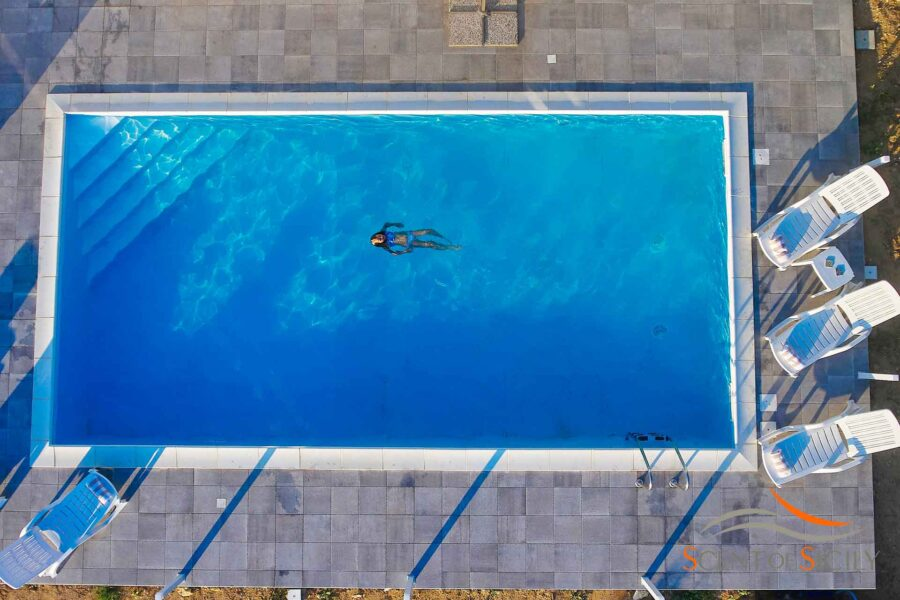 Enjoy the tranquillity of swimming in the pool