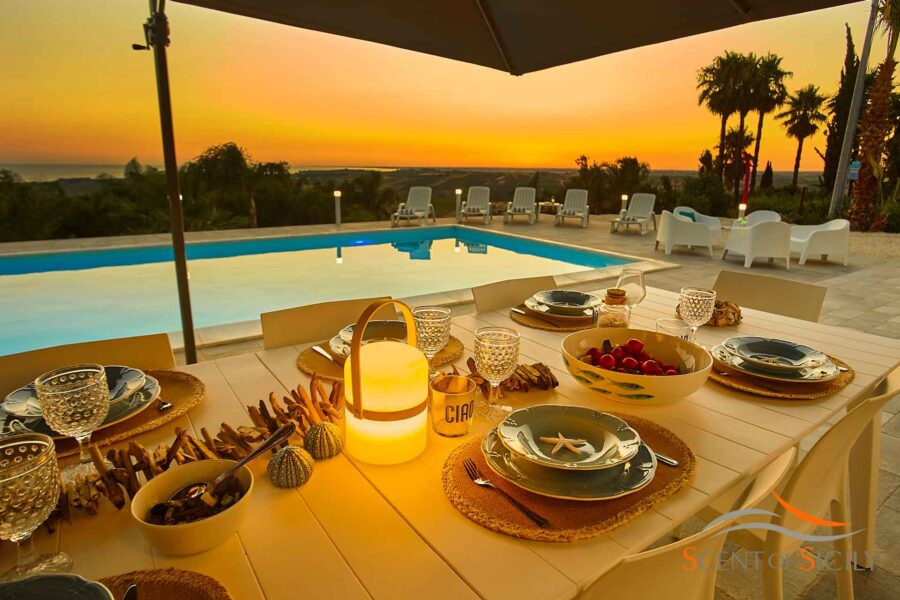 Dining with the colours of the magic sunset