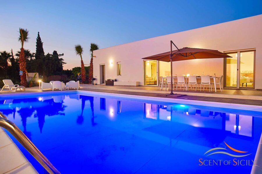 Villa Sara Sciacca sunset