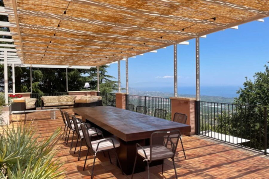 The terrace offers a delightful view of the surrounding.