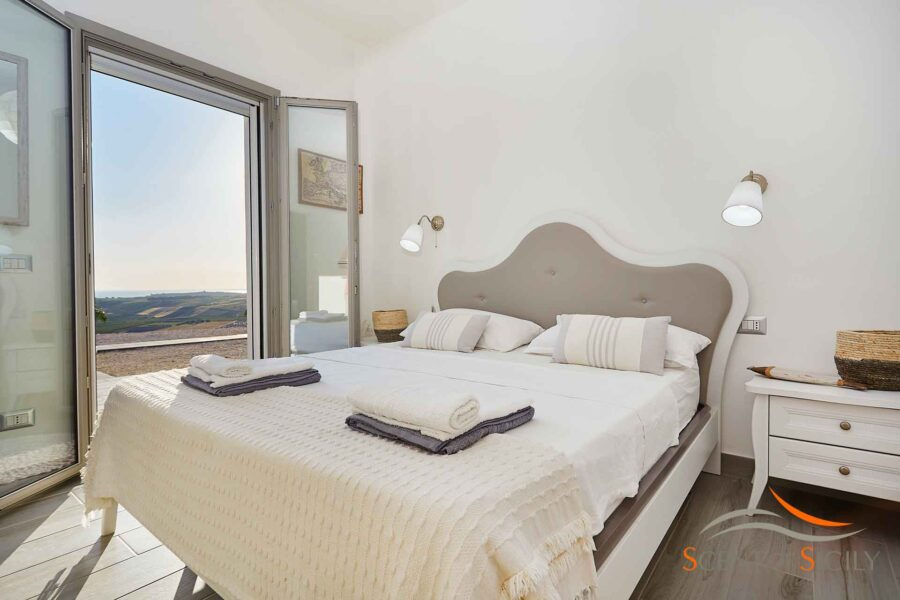 You can enjoy a wonderful view from this bedroom